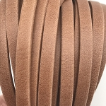 Flat Leather 5mm - Matte Saddle Brown