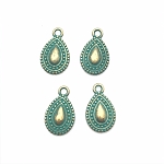 Ethnic Drop Charm - Green Patina - Pk of 4
