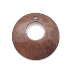 Tagua Nut Hoop - Brown