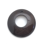 Tagua Nut Hoop - Dark Brown