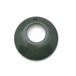 Tagua Nut Hoop - Dark Green