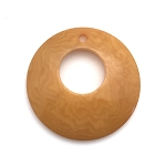 Tagua Nut Hoop - Gold Yellow
