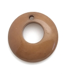 Tagua Nut Hoop - Light Brown