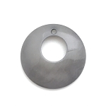 Tagua Nut Hoop - Light Gray