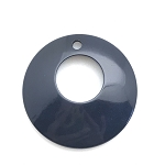 Tagua Nut Hoop - Midnight Blue