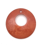 Tagua Nut Hoop - Orange