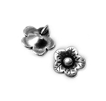 Button Flower Charm-  Pk of 4