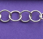 Sterling Silver Chain -  Round Link