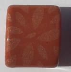 Clay River - 10mm - Etched Daisy - Cinnamon