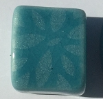 Clay River - 10mm - Etched Daisy - Teal