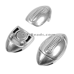 10mm flat FOOTBALL magnetic clasp ANT SILVER