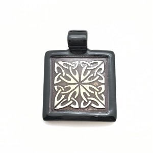 Clay River Porcelain Pendant