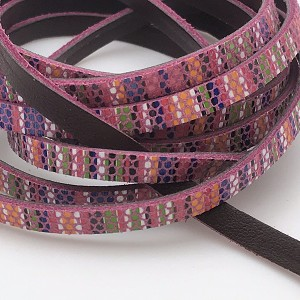 Flat Leather 5mm - Aztec Leather - Pink