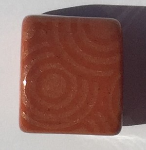 Clay River - 10mm - Etched Circles - Cinnamon
