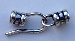 4mm Hook and Eye Crimp Clasp