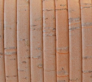 Cork 5mm Flat Leather per 2 YARDS Peach