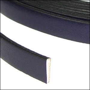Flat Leather 10mm - per YARD Deep Purple
