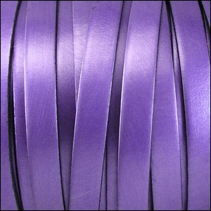 Metallic Flat Leather 5mm - per inch Purple