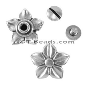 Multi Flat Leather Screw Set - Jasmine