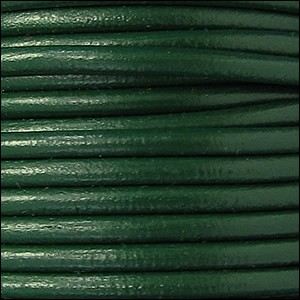 5MM ROUND EURO LEATHER PER YARD - Kelly Green