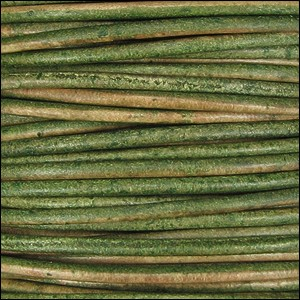 Natural Dye 2mm Leather per 3 yards Dark Green