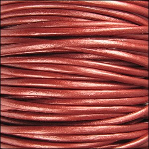 Metallic 1mm Leather per spool Russet