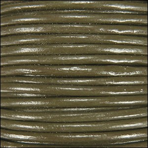 1mm Leather per spool Olive