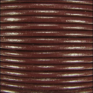 2mm Leather per spool dark brown