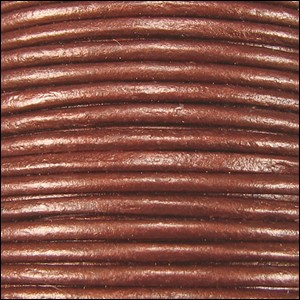 Metallic 1.5mm Leather per 3 yards Copper