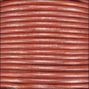 Metallic 1.5mm Leather per spool Lt Rust