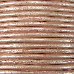 Metallic 2mm Leather per 3 yards Dusty Pink