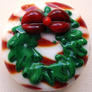 Wreath Glass Lampwork Beads
