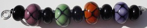 Beehive Set Glass Lampwork Beads