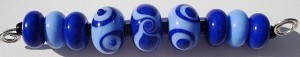 Periwinkle Set Glass Lampwork Beads
