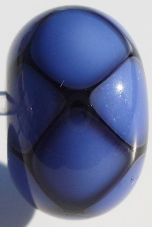 Beehive - Ink Blue Glass Lampwork Beads