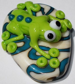 Hop Glass Lampwork Beads