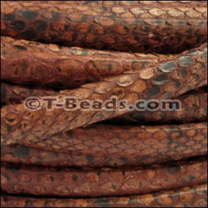 Python Mini Regaliz Leather per inch Tan